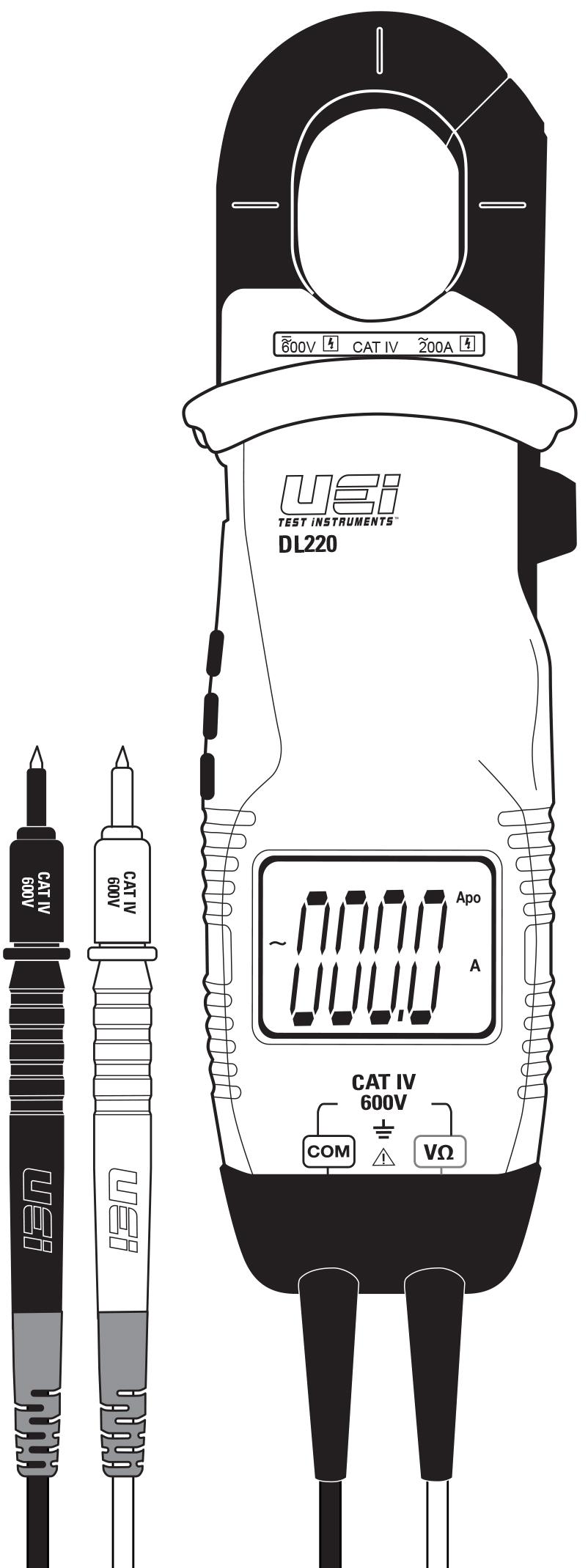 Bleu JunYe ACM 220V 0-100A Digital Amp/èrem/ètre 22mm Moniteur Moniteur de Mesure de Courant